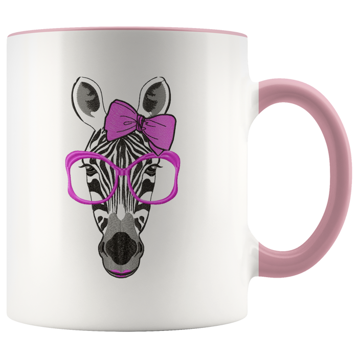 Zebra mug Ceramic White Coffee Mug - Pink | Shop Sassy Chick