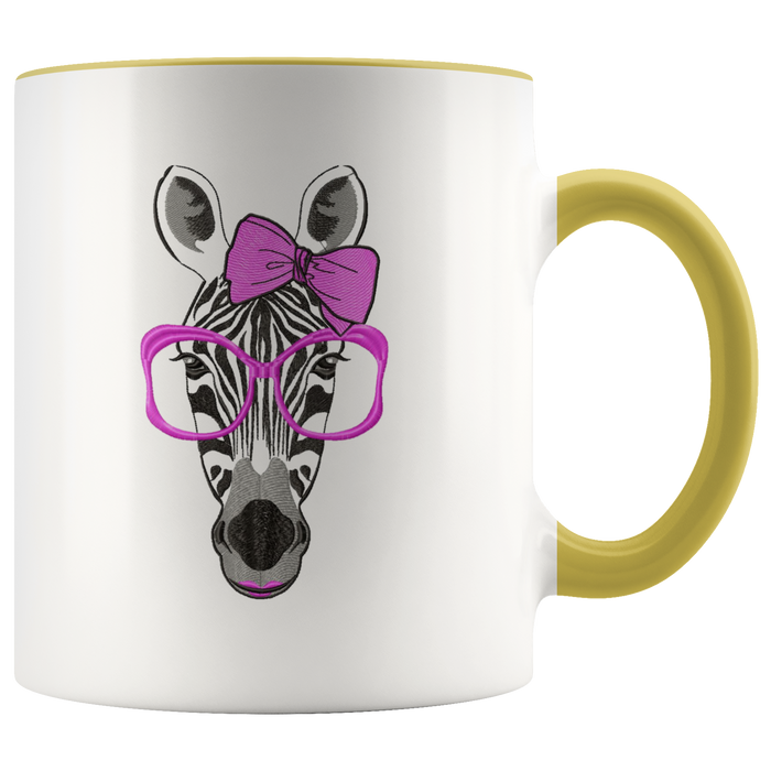 Zebra mug Ceramic White Coffee Mug - Yellow | Shop Sassy Chick