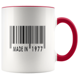 Made In 1977 Mugs