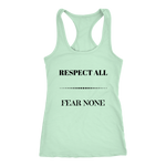 Respect All Racerback Tank Top - Mint | Shop Sassy Chick