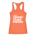 Allergic To Fake Friends Racerback Tank Top - Orange | Shop Sassy Chick