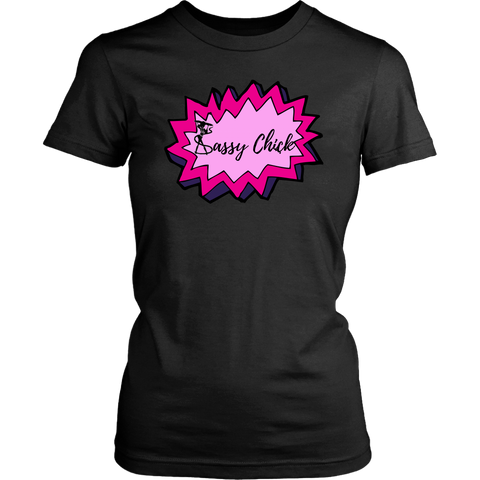 Sassy Power Women's Unisex T-Shirt - Black | Shop Sassy Chick