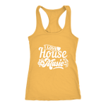 I Love House Music Racerback Tank Top - Yellow | Shop Sassy Chick