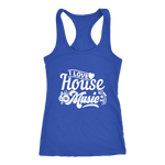 I Love House Music Racerback Tank Top - Blue | Shop Sassy Chick