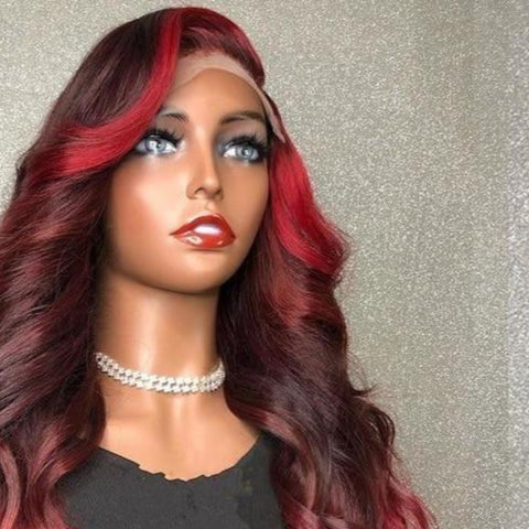 Ombre Red Highlights Color