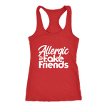 Allergic To Fake Friends Racerback Tank Top - Red | Shop Sassy Chick
