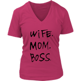 Wife Mom Boss V-Neck