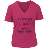 It's Not You Women's V- Neck Tee -Pink | Shop Sassy Chick