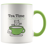 Mug Tea Ceramic Accent Mug - Green | Shop Sassy Chick