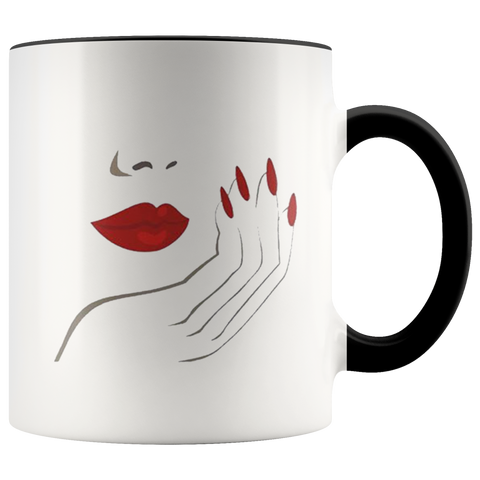 Lips And Nails Mugs