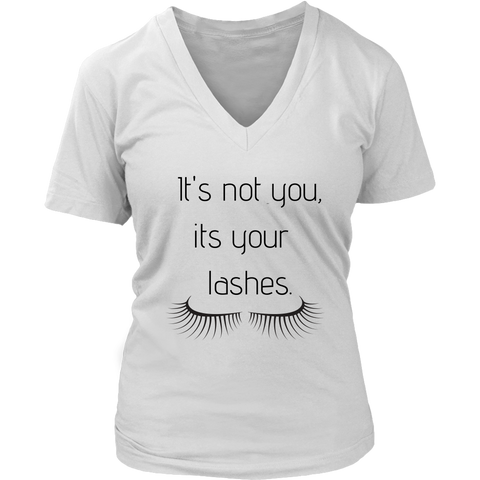 It's Not You Women's V- Neck Tee -White | Shop Sassy Chick