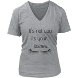 It's Not You Women's V- Neck Tee -Grey  | Shop Sassy Chick