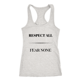 Respect All Racerback Tank Top - Grey | Shop Sassy Chick