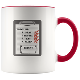 To Do List Mug Ceramic Accent Mug - Red | Shop Sassy Chick