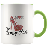 Coffee Ceramic Mug Mom Pump - Green | Shop Sassy Chick