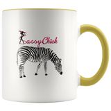 Coffee Zebra Ceramic Mug - Yellow | Shop Sassy Chick
