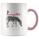 Coffee Zebra Ceramic Mug - Pink | Shop Sassy Chick