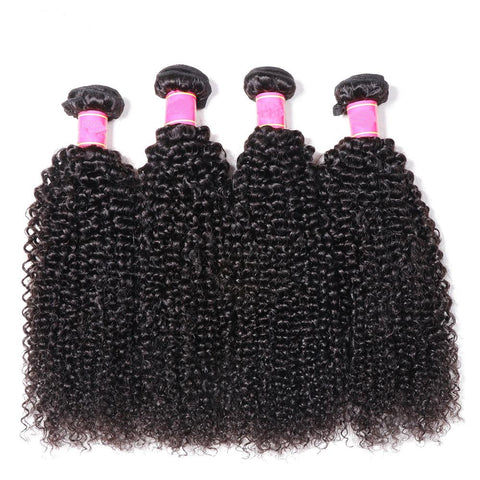 Kinky Curly Human Hair Bundles 1/3/4
