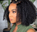 Mongolian Afro Kinky Curly Wig With Bang