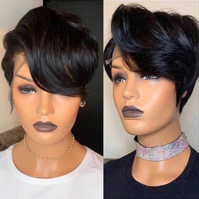 13x6 Lace Front Human  Pixie Cut - Shop Sassy Chick