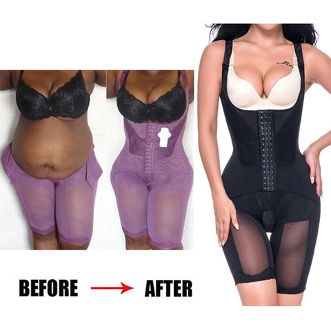Full Body Shaper Waist Cincher Thigh Reducer Bodysuit