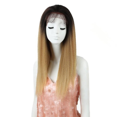 Long Straight Synthetic Hair Lace Front 26 Inch Wigs
