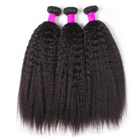 8-26inch Kinky Straight Hair Bundles 100% Human Hair
