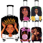 Afro  Print Luggage Cover