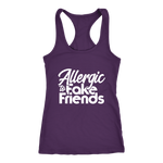 Allergic To Fake Friends Racerback Tank Top - Purple | Shop Sassy Chick