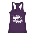 I Love House Music Racerback Tank Top - Violet | Shop Sassy Chick