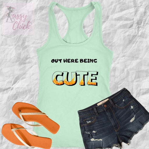 Out Here Being Cute Tanks - Shop Sassy Chick