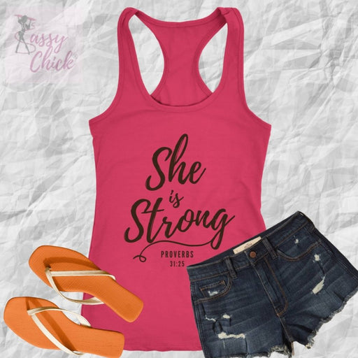 She Is Strong Tank - Shop Sassy Chick