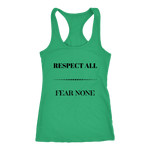 Respect All Racerback Tank Top - Green | Shop Sassy Chick