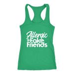 Allergic To Fake Friends Racerback Tank Top - Green | Shop Sassy Chick