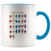 Learn ASL Ceramic Accent Mug - Blue | Shop Sassy Chick
