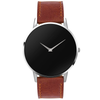 The Ares- Mens watch 45mm Brown Band Silver Case