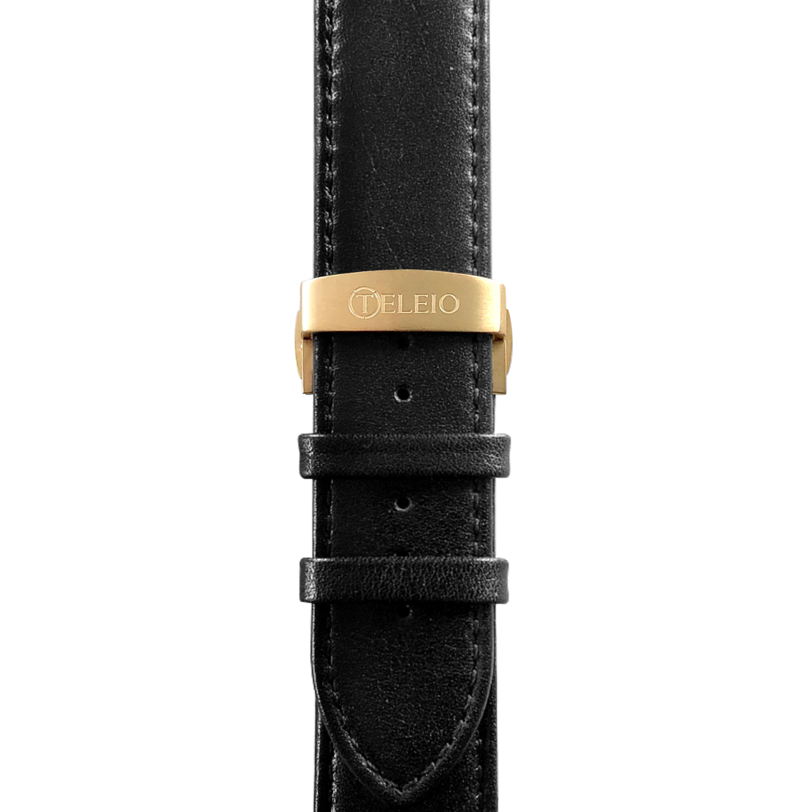 45mm Titan Black Band Gold Clasp