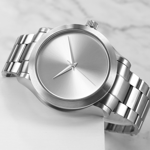 The Eos - Silver Case |  Silver Dial | Silver Stainless Steel Band