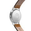 The Hades- Mens watch 45mm Tan Band Silver Case