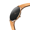 The Hades Rose Gold- Mens watch 45mm Tan Band Rose Gold Case