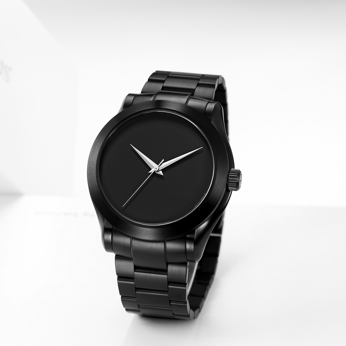 The Hyperion - Black Case |  Black Dial | Black Stainless Steel Band
