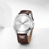 The Oceanus - Silver Case |  Silver Dial | Brown Leather Band