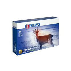 LAPUA AMMO 243 WINCHESTER 90gr NATURALIS-SOLID