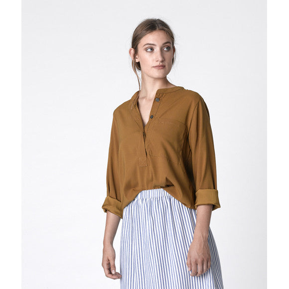 Dutchess pocket shirt - ocre