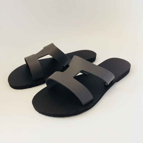 Greek salad sandals - grey