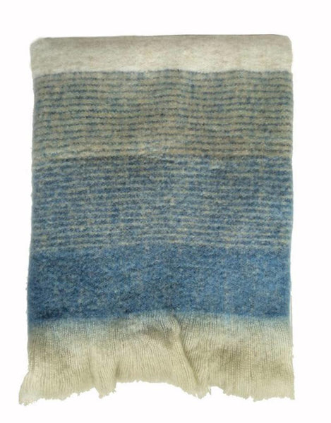 Plaid Indigo mohair