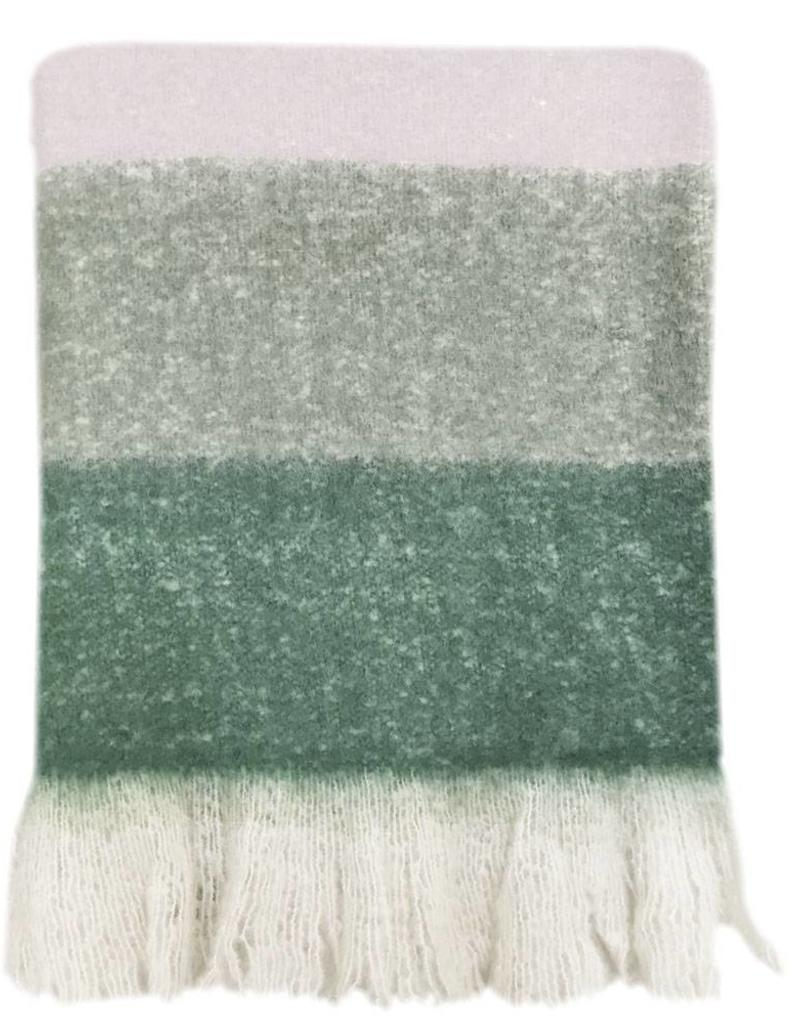 Plaid Leaf green mohair