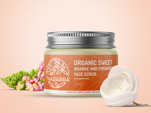 Organic Sweet Orange and Frankincense Face Scrub