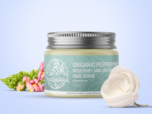 Organic Peppermint, Rosemary and Lavender Face Scrub