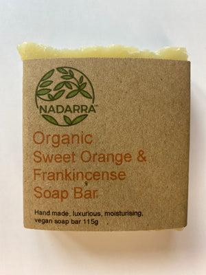Organic Sweet Orange and Frankincense Soap Bar